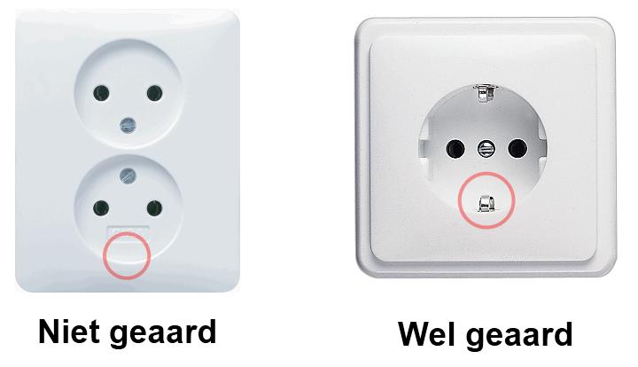 Stopcontact geaard